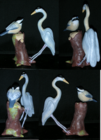 Chickadee and Heron Cake Topper by TianaTinuviel