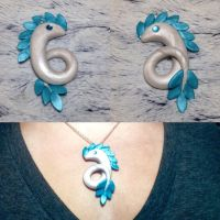 Serpent Drake Large Necklace Charm by Airy-Styles