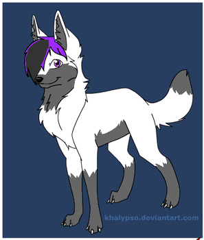 Slam's wolf form by pinkrosey14
