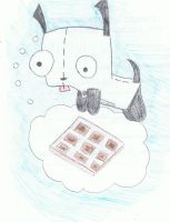Gir and his waffles by Ybpopular