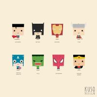 SUPERHERO (ALL) by kusodesign