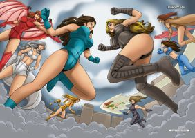Battle of the Titans by giantess-fan-comics