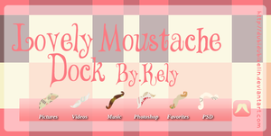 Lovely Moustache Dock (Skin XWidget) by DubiDubiKelin