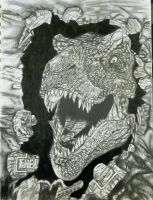 Jurrasic Park T-Rex by Victoria-Creed