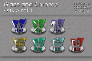 glass and chrome ms office set by xylomon