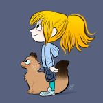 My daughter and my cat. by bloglaurel