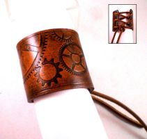 Steampunk Geared Cuff1 by Skinz-N-Hydez