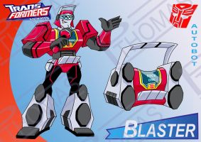 Transformers Animated Blaster by PWThomas