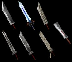 FFVII Cloud's Swords 01 by Hafu-Inuyasha