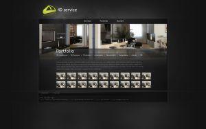 4D Service web interface by VictoryDesign