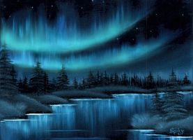 The Northern Lights by Spikylein