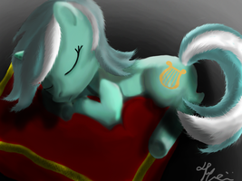Sleeping Lyra by Bronyontheway