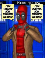 The Doctor Deadpool Colour by The-Great-Geraldo