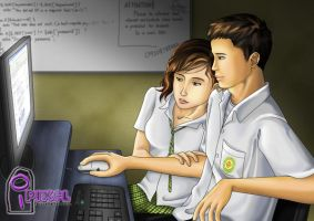Student couple by jcords
