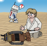 Commission - Young Luke Skywalker by Mothman64