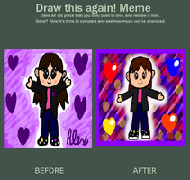 Before and After by AlexthePurpleKirby