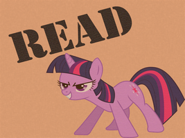 Twilight Orders you to Read Wallpaper by MartyMurray