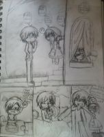 spain and romano little comic wip thing by GlichieVirus