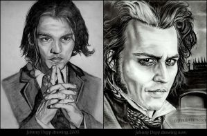 Johnny Depp Then and Now. by EmilyHitchcock
