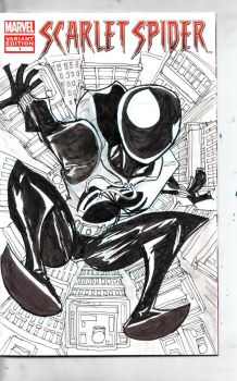 Scarlet Spider Sketch Cover by Jorell-Rivera