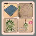 ~Natsume and Nyanko sensei Rubber Stamp~ by XluciferXX