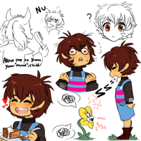 Undertale:~AU Design Frisk Sketches~ by The-Star-Hunter
