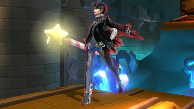 Bayonetta with the Star Rod by user15432