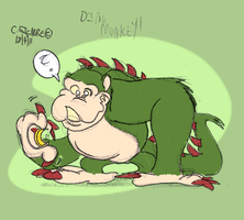 Dino Monkey by qwertypictures