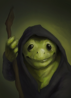 Robed Frog by OllieBonthron