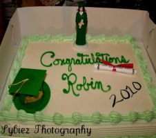 Sisters Graduation Cake by Sybiez