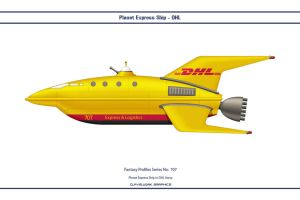 Fantasy 707 Planet Express Ship DHL by WS-Clave