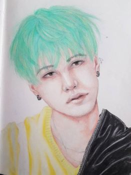 BTS Suga by themysticpainer