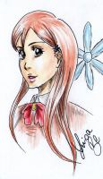 Orihime Inoue sketchcard by LuisaBenedetti