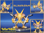 Alakazam Papercraft by Skeleman