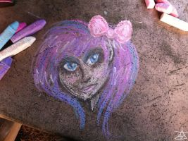 Chalk Art- Girl by DemonRemorse