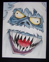 abominable snowman by mjfletcher