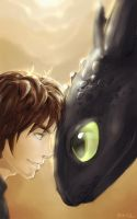 Hiccup and Toothless by Blip-NYA