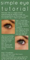 Simple Eye Tutorial by Leafbreeze7