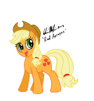 A Cheerful Applejack by RedApropos