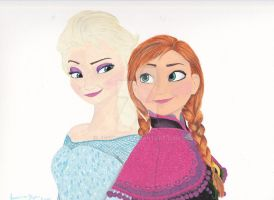 Elsa and Anna by Jessica17