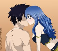 Gray and Juvia (Kiss) - Fairy Tail by xBebiiAnn