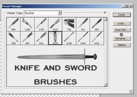 knife and sword brushes by feniksas4