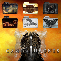 Game of Thrones folder icons: S1-S4 by F0l13aD3ux