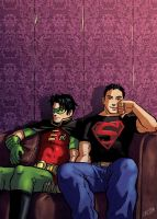 Old - Robin and Superboy by Cris-Art
