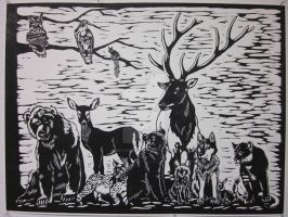 Wildlife of the Great Northwes by oregonartist