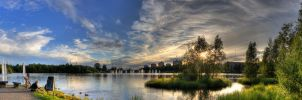 Oulu sunset panorama by Orzel