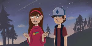 Mabel and Dipper by Dannela