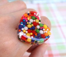 Sprinkle Heart Ring by craftersdelights