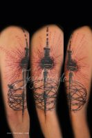 Berlin tower tattoo - Jay Freestyle by Tattoo-J