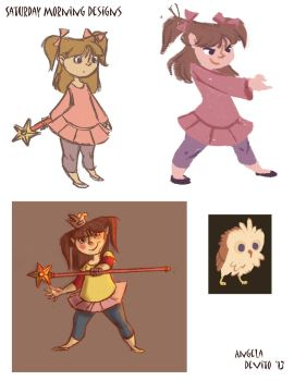 Saturday Morning Character Designs 1 by Archangelaart